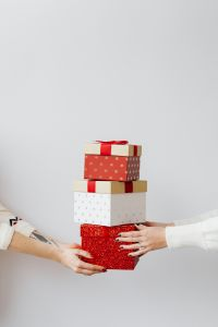 Kaboompics - Hands Holding Gifts