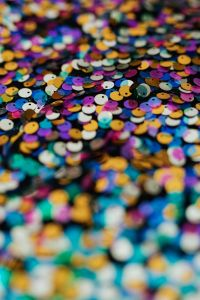 Kaboompics - Colorful Sequin Background