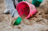 Kaboompics - Toddler playing in the sand