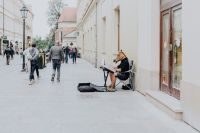 Kaboompics - Man with horse head playing the piano, Cracow, Poland