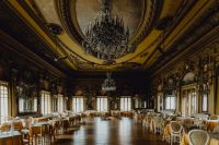 Restaurant Casa do Alentejo, a former Moorish palace: the ballroom, Lisbon, Portugal