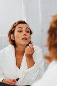 Kaboompics - Skincare routine - Middle-Aged Woman in Bathroom