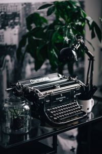 Black vintage typewriter
