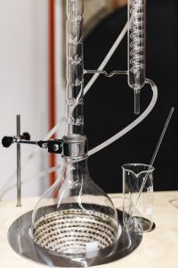Kaboompics - Glass distillation equipment