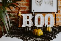 Kaboompics - Halloween decorations with Boo Letters