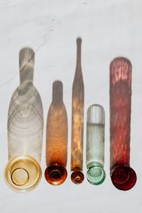 Kaboompics - Shadows of Glass Bottles - background