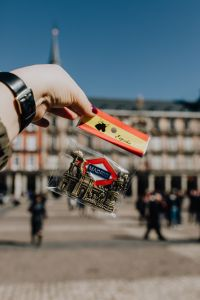 Souvenir magnet from Madrid, Spain