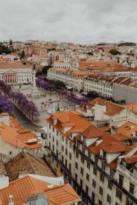 Kaboompics - Cityscape of Lisbon & skyline view over Rossio Square, Portugal