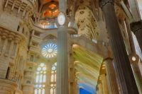 Sagrada Familia - the cathedral designed by Gaudi, Barcelona, Spain