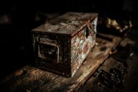 Kaboompics - Old boxes in a workshop