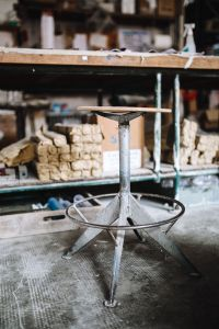 Old industrial stool