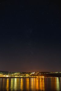Kaboompics - Starry sky at night over the marina, Izola, Slovenia