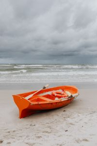 Kaboompics - Lifeguard boat on Baltic coast