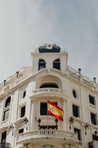 Kaboompics - The Spanish flag on a building in Madrid, Spain