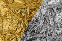 Kaboompics - Yellow Golden & Silver Foil Texture Background