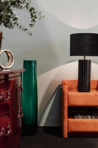 Kaboompics - Coloured furniture and black lamp - upholstered furniture