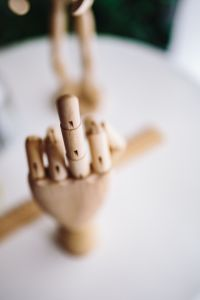 Kaboompics - Wooden hand doing gesture