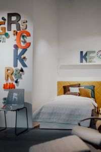Kaboompics - Bedroom with colorful letters decor