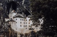 Predjama castle at the cave mouth in Postojna, Slovenia