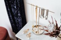 Kaboompics - Jewellery Stand on a Marble Table, White Background