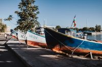 Kaboompics - Fishing boats berthed in the marina of Old Town of Nessebar, Bulgaria