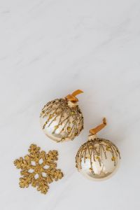 Golden baubles - Christmas decorations