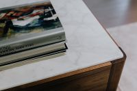 Kaboompics - Books on a marble commode