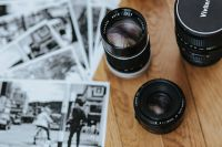 Kaboompics - Camera lenses with black-and-white photos