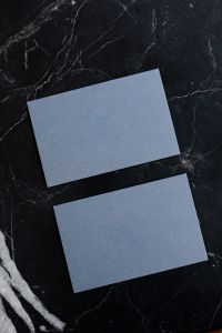 Kaboompics - Empty business card on marble