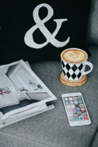 Kaboompics - Resting with magazines and cup of coffee