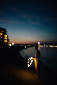 Kaboompics - Fairy lights at the beach in Bulgaria