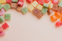 Mix of sweets - negative space - copy