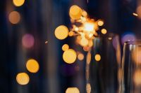 New Year's Eve - blue background bokeh