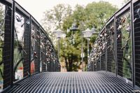 Kaboompics - Love locks on a bridge