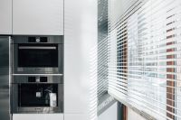 Window blinds in a modern kitchen