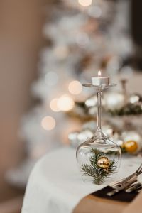 Kaboompics - Silver and gold Christmas decorations on the table