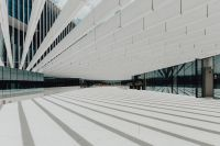 Kaboompics - Modern white building, EDP Headquarters of architect Aires Mateus, Lisbon, Portugal