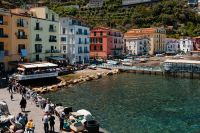 Kaboompics - Bright colored buildings & people in Sorrento, Italy