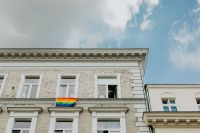 Kaboompics - LGBT flag hanging on the building
