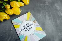 Kaboompics - Mother`s Day card with colorful tulip flowers