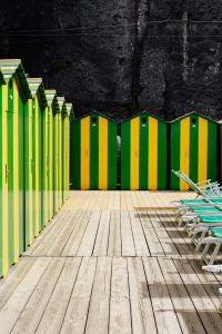 Kaboompics - Changing rooms at the beach in Sorrento, Tyrrhenian sea, Amalfi coast, Italy