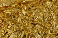 Kaboompics - Golden Foil Texture Background