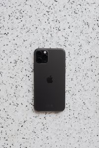 Apple iPhone 11 Pro on terrazzo