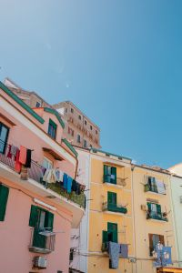 Bright colored buildings in Sorrento, Italy