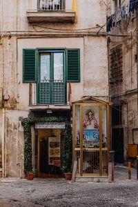 A religious shrine in the back streets of the old city of Naples