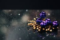 Golden and blue christmas ornaments