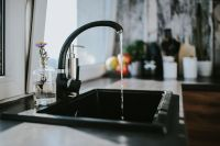 Kaboompics - Black kitchen sink