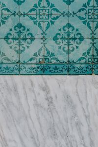 Kaboompics - Portuguese Azulejos, typical glazed ceramic tiles with marble
