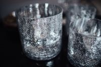 Kaboompics - Silver covered glasses