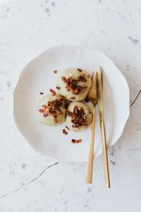 Dumplings with meat - Pyzy z mięsem